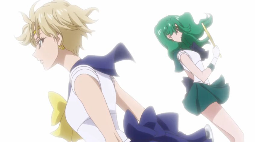 Sailor Neptune y Sailor Uranus en Sailor Moon Crystal. (Imagen: Toei Animation)